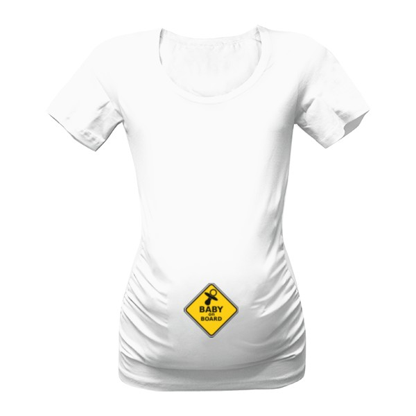 5004514972a Tričko s potiskem Těhotenské baby on board